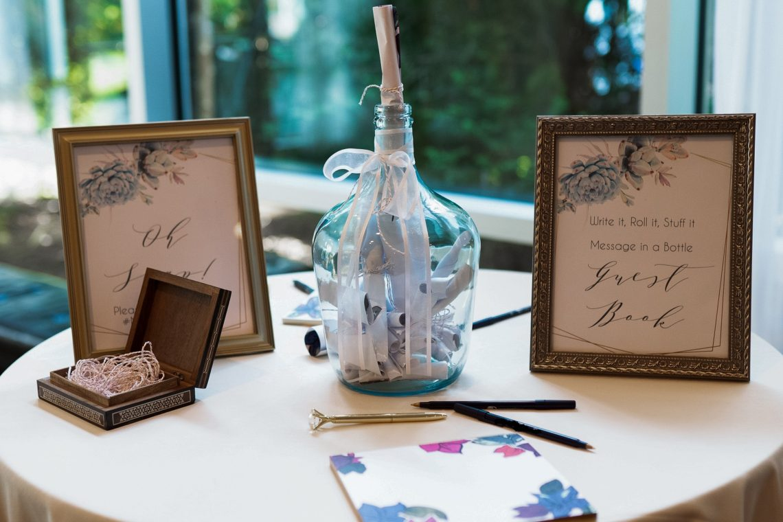 DIY Message in a Bottle Guestbook